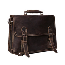ROCKCOW Handmade Vintage Leather Briefcase, Men Messenger Bag, Laptop Bag 7161R