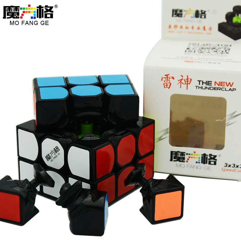 QiYi MoFangGe New Thunderclap V2 Magic Cube 3x3x3 Thunder Clap Puzzles Cube Professional Speed Magico Cubo Traditional Cube Toys qiyi mofangge the valk 3 power magic cube pvc sticker puzzle cube professional competition magico cubo