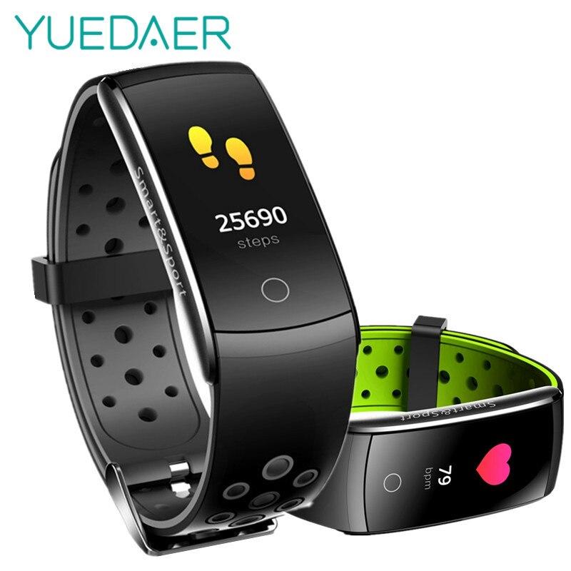 Q8 Intelligente Wristband Degli Uomini di vigilanza di Forma Fisica Activity Tracker Monitor di Frequenza Cardiaca di smartband IP68 Impermeabile Sport VS Xiomi Braccialetto Intelligente