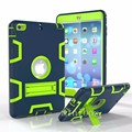 For iPad Mini 1/2/3 Retina Kids Shockproof Case Hybrid Hard&Rubber Three Layer Armor Defender Full Body Protective Case