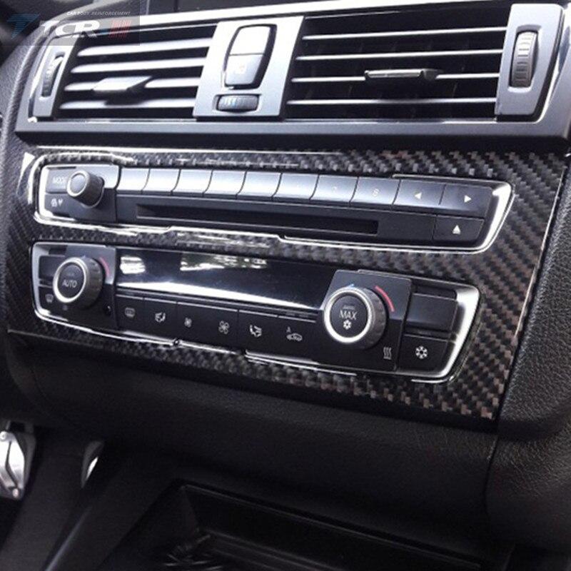 Auto Innen Kohlefaser Klimaanlage CD Panel Cover für BMW F20 1 Serie 2012-2015