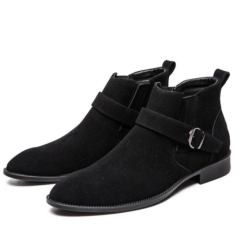 Botas Tallas Hombre Negocios 38 Planos Hombres 47 Negro Vestido Vaquero Zapatos Grandes Fiesta Zapato Casual Martin Black Retro Mocasines Formal qqwUp8nr