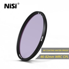 Nisi WRC CPL 46mm/49mm/52mm/55mm/58mm/62mm/67mm/72mm/77mm/82mm AGC Glass Filter AR COATING Ultra Thin Water-Proof Coating Filter(China)