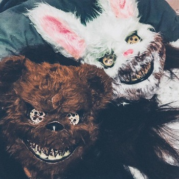 Scary Animal Halloween Horror Plush Masks  1