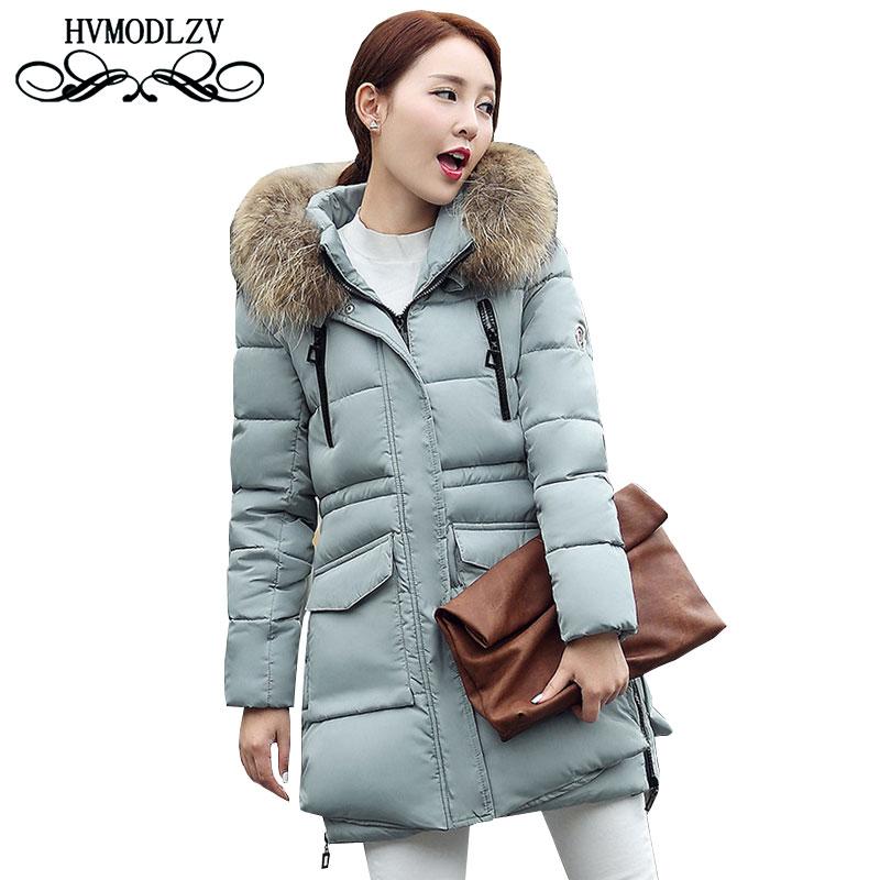 Autumn Winter Cotton Jacket Women Clothing 2017 New Fur Collar Cotton Jacket To Keep Warm Long