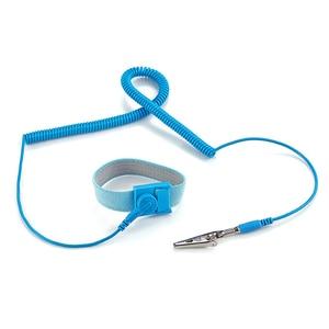 Image 2 - Componentes de correa de muñeca antiestática con Cables de descarga extraíbles para herramientas de electricista azul