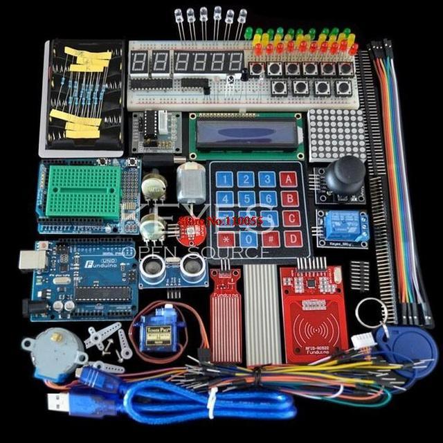 Starter Kit arduino Uno R3 kiti uno R3 Breadboard ve tutucu adım Motor / Servo /1602 LCD / jumper tel/UNO R3
