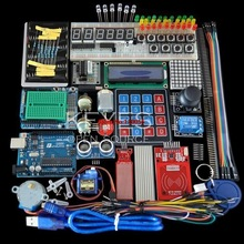 Starter Kit for arduino Uno R3 - Uno R3 Breadboard and holder Step Motor / Servo /1602 LCD / jumper Wire/ UNO R3 [sintron] uno r3 upgrade kit with motor lcd servo module for arduino avr starter