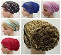 Цветок шляпа мусульманские банданы хиджаб, хиджаб underscarf Мусульманской Уммы кружева труба внутренняя Крышка