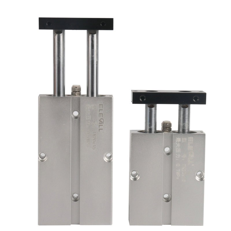 TN20*150 / 20mm Bore 150mm Stroke Compact Double Acting Pneumatic Air Cylinder high quality double acting pneumatic gripper mhy2 25d smc type 180 degree angular style air cylinder aluminium clamps