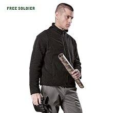 FREE SOLDIER для активного отдыха Спорт Кемпинг пеший Туризм тактический флисовое пальто для мужчин
