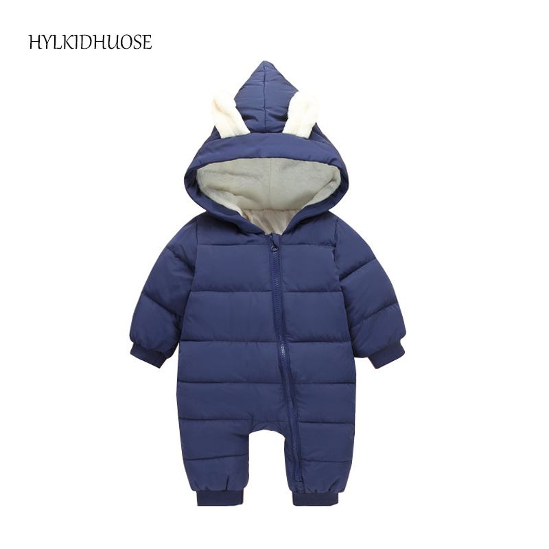 HYLKIDHUOSE 2017 Winter Infant Rompers Newborn Jumpsuit Hooded Warm Children Outdoor Rompers Kids Baby Girls Boys  Jumpsuit