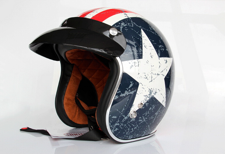 2016 New Captain America flag TORC Harley style motorcycle helmet T50 Team USA ABS Prince Motorbike helmets 0224 new style team graphics