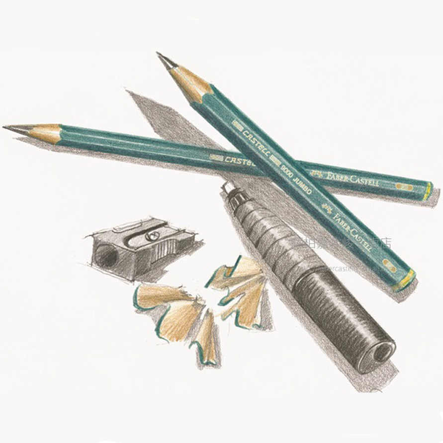 Faber castell 9000 jumbo graphite pencils pack of 5pcs 6pcs hb 2b 4b 6b 8b 0 53mm lead art sketch pencil