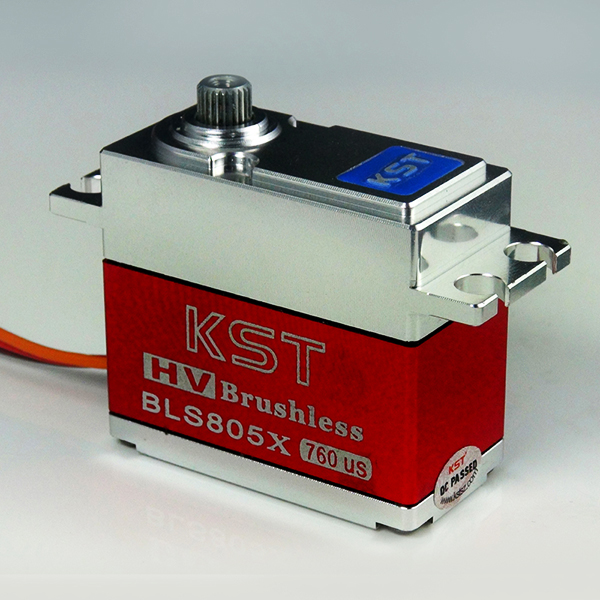 KST 70g/ 7.5kg/ .039 sec All Metal HV Brushless Digital Servo BLS805X (suit for 550-700 class helicopters) kst 70g 20kg 07 sec all metal hv brushless digital servo bls815 for rc model airplane helicopter