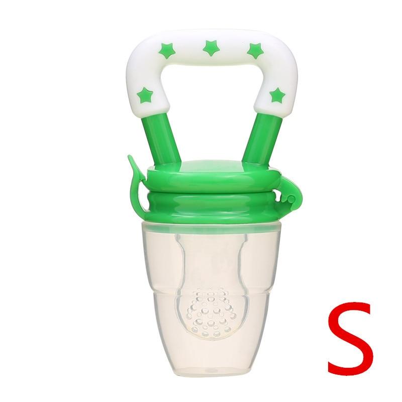 Детская соска для свежего питания, соска для кормления детей, соска для кормления фруктов, безопасные соска, бутылочки - Цвет: greenS