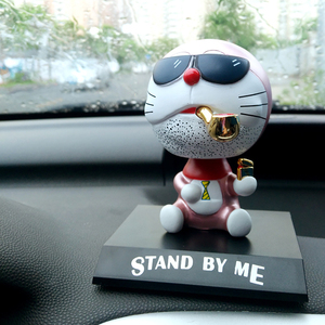 Car Ornaments PVC Shaking Head Dolls Automobile Interior Dashboard Decor Toys Cute Cat Cartoon Figurines Car Accessories Gifts(China)