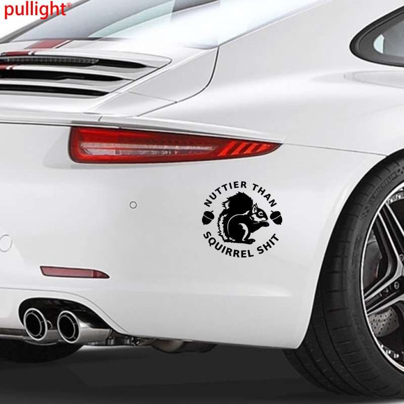 Personality Creative Classic Attractive Nuttier than Squirrel decal sticker poo funny joke humor in Car Stickers from Automobiles Motorcycles