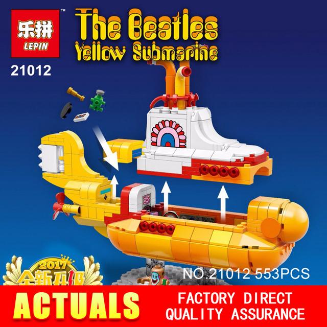 2017 Lepin 21012 Nuevo 553 Unids El beatles yellow submarine Blcoks construcción Ladrillos Juguetes 21306