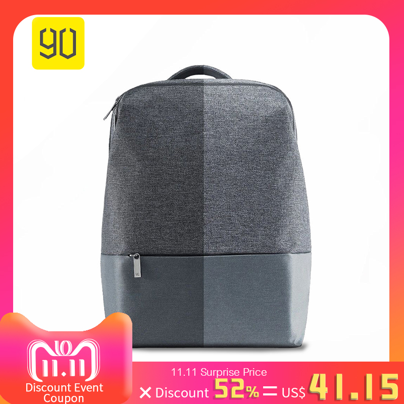 Xiaomi 90 Fun City Simple Backpack Waterproof Female Leisure Rucksack Daypack School Bag Duffel Bag Satchel For 14 Inch Laptop xiaomi 90fun urban city simple backpack 14inch laptop waterproof mi rucksack daypack school bag learning portable backpacks