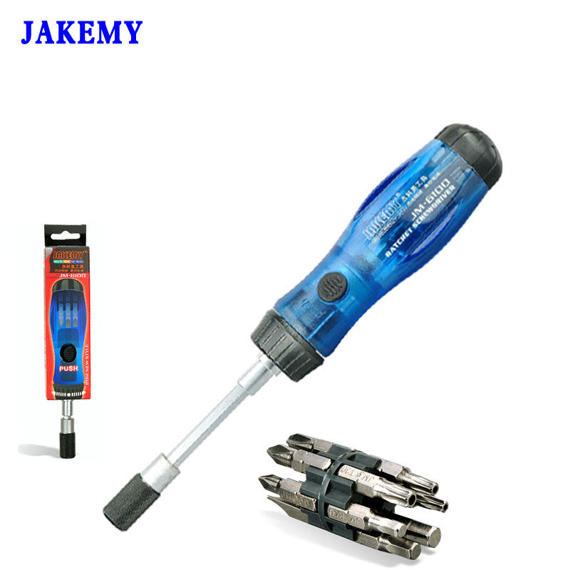 JAKEMY 13 in 1 Precision Ratchet Screwdriver Set Multi-Bit Torx Slotted Phillips Destornillador Parafusadeira Repair Hand Tools xkai 14pcs 6 19mm ratchet spanner combination wrench a set of keys ratchet skate tool ratchet handle chrome vanadium