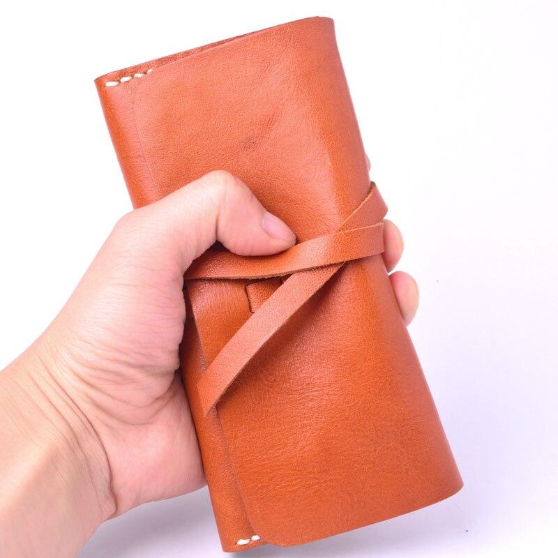 AETOO läder plånbok wome lång sektionsspänne manuell - Plånböcker - Foto 3