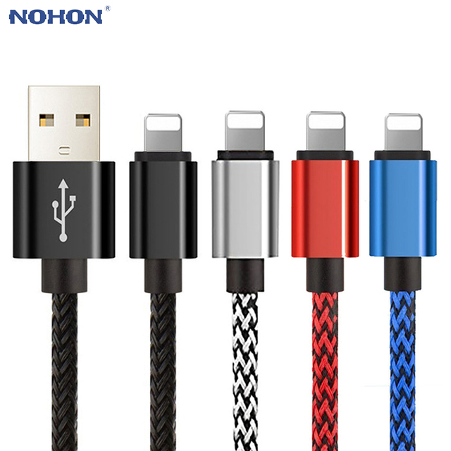 brand new 2adf9 52cf9 US $1.02 30% OFF|20cm 1m 2m 3m Data USB Charger Charging Cable for iPhone 6  S 6S 7 8 Plus X 10 XR XS MAX 5 5S SE Origin accessory short long wire-in ...