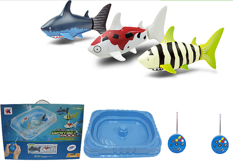 Фотография High quality Remote control sharks toy gift box pack with pool Educational Innovative water toys Baby kids best birthday gift