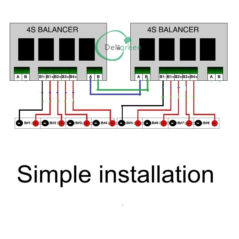 QNBBM 7S 15V 24V Battery Active Balancer BMS for LIFEPO4,LTO,Polymer ...
