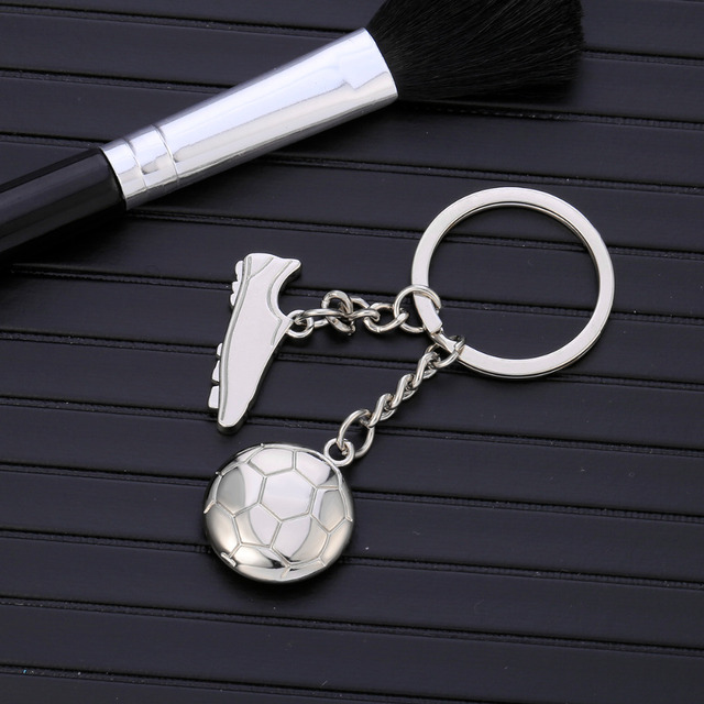 Hot Simple Design Soccer & Shoes Football Charms Keychain Keyfob Keyrings Gift For Men Football Fans DropShipping