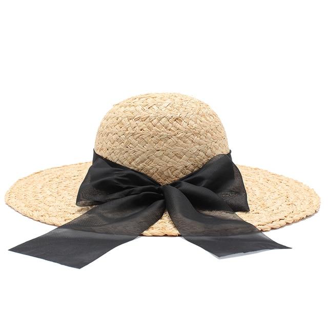 57572817 Tanworders Mujeres Verano Ala Grande de Sombreros de Playa Sombrero de Paja  de la Rafia Natural