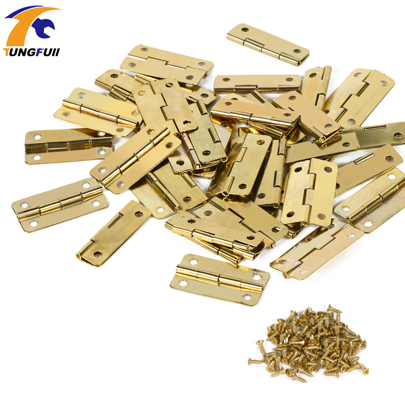 30*18mm furniture connectors 4 hole small wooden gift box hinge small wooden hinge In Stock 50pcs ...