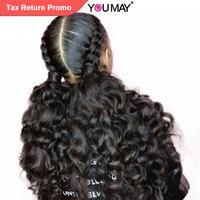Предварительно сорвал полный кружево человеческие волосы Искусственные парики с ребенком волос 150% Glueless волосы для вплетения полный кружев