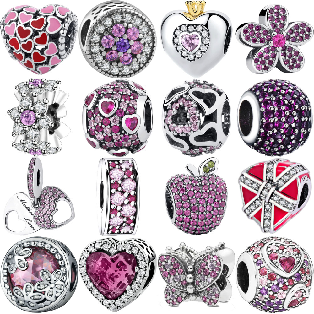 Designer 925 Sterling Silver Bracelet Floating Charms Beads Fit Pandora Original Bracelets for Women Necklace Womens Jewelry(China)
