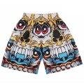 3d shorts men 3d print skull/Tupac/Lion/Jesus golden flowers short pant bermuda masculina beach shorts