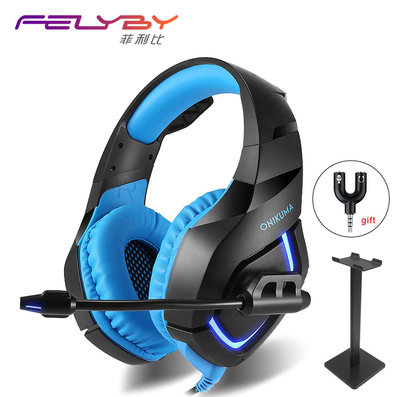 все цены на HOT! 4 kinds Professional Noise Canceling Studio Wired Gaming Earphone Headphone for Computer & Headset with Microphone for PS4 онлайн