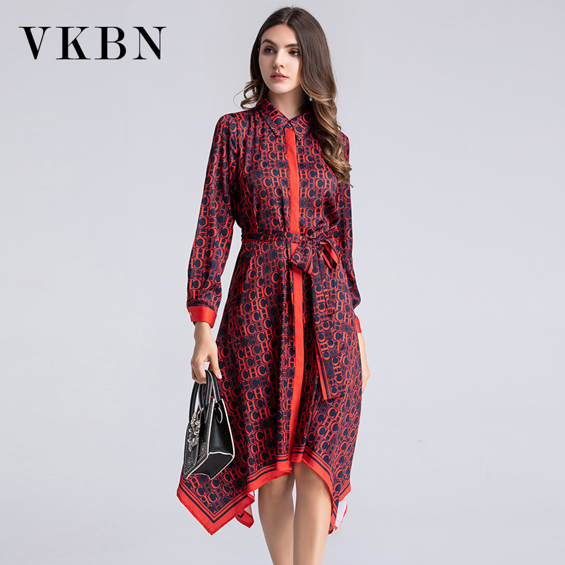 VKBN Summer Dress 2020 Irregular Dresses Woman Party Night Empire Long Sleeve Party Dress Elegant Vestidos De Fiesta