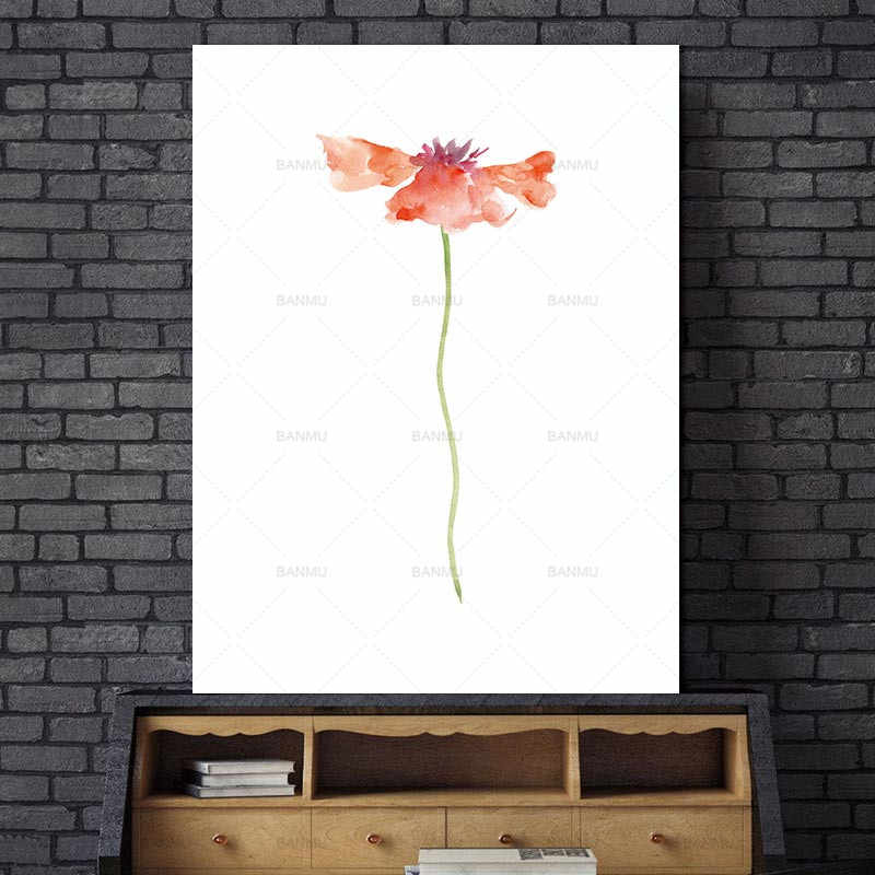 Flower Canvas painting picture wall Art Print Painting Poster  Wall Pictures for Home Decoration for living room