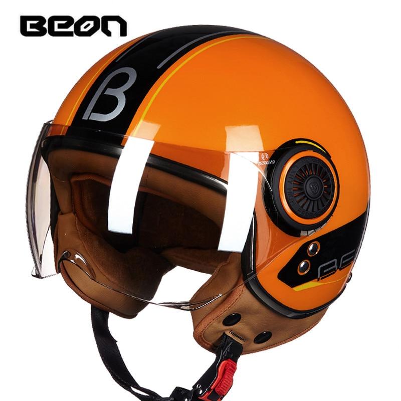 Men s BEON motorcycle helmet Women s Vintage scooter open face helmet Retro E bike 3
