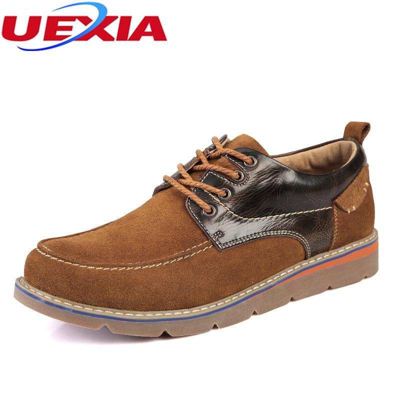 New Fashion Leather Snow Men Boots Outdoor Ankle Shoes Men Autumn Black Brown Luxury Designer Dress
