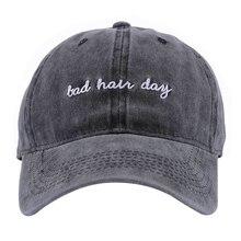 Горячая Ретро Регулируемая бейсбольная кепка Встроенная Кепка Snapback шляпа для мужчин женщин английские буквы плохой волос день вышивка шляпа бренда Gorra
