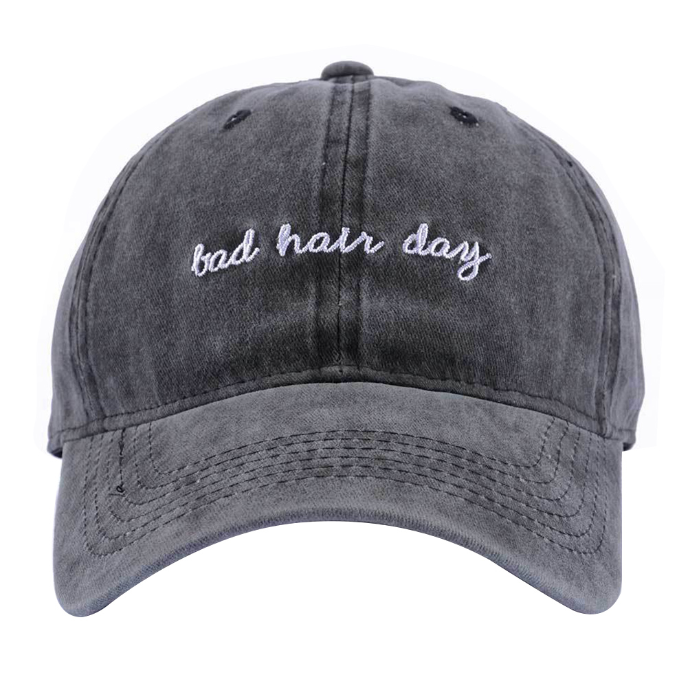 Hot Retro Adjustable   Baseball     Cap   Fitted   Cap   Snapback Hat For Men Women English Letters Bad Hair Day Embroidery Hat Gorra