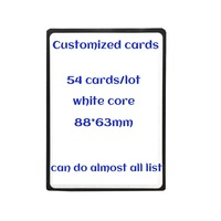 54pcs Lot White Core Magical Paper Mtg Card The Customized Deck Gathering All Kinds Of Rare
