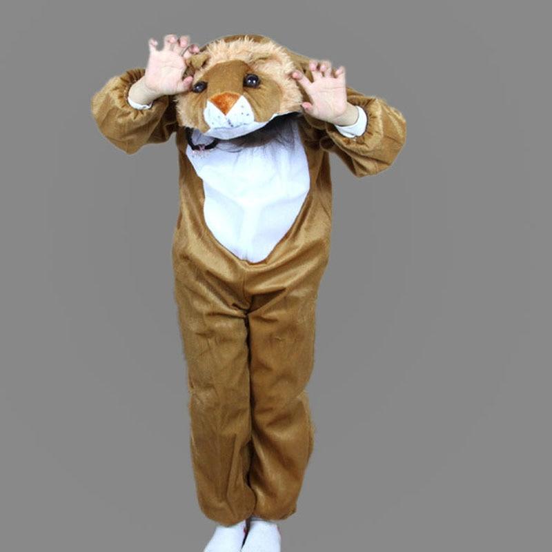 Umorden Barn Barn Toddler Pajama Tecknad Djur Lion Kostym Prestanda - Maskeradkläder och utklädnad - Foto 3