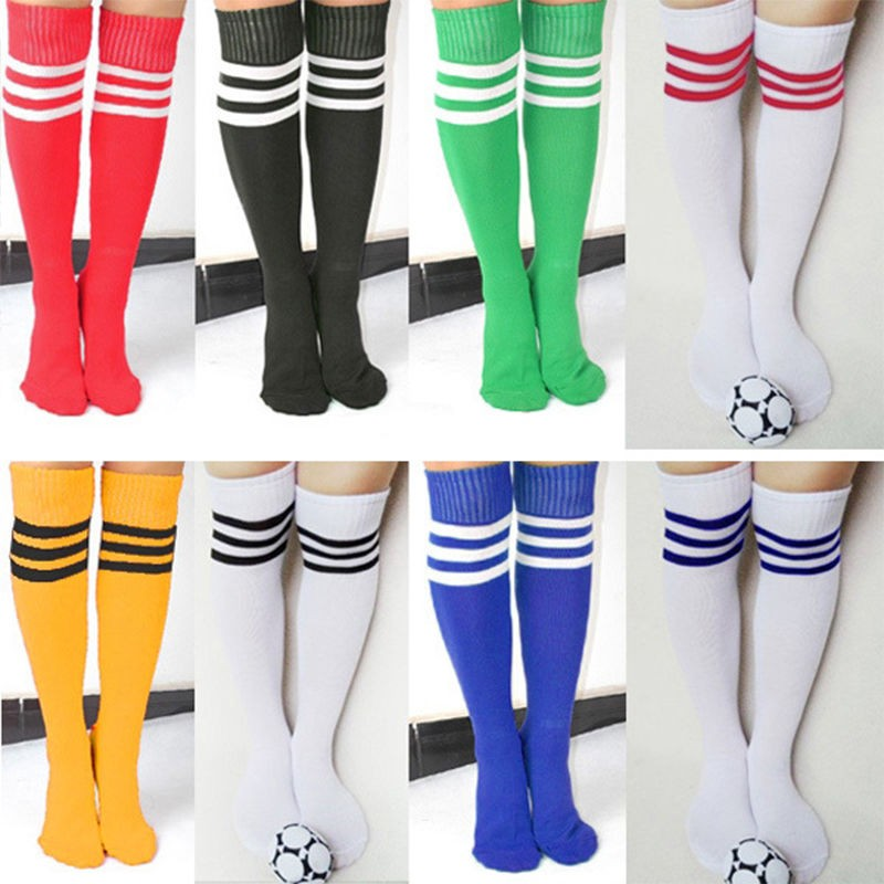 New  High Socks Over Knee Socking For Girls Womens 2018 New Fashion Sexy Striped Cheerleader Striped Long Socks