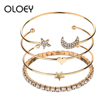 OLOEY Bracelet For Women Simple Trendy Lady Alloy Hand Jewelry Accessories Casual Chain Gifts Friends