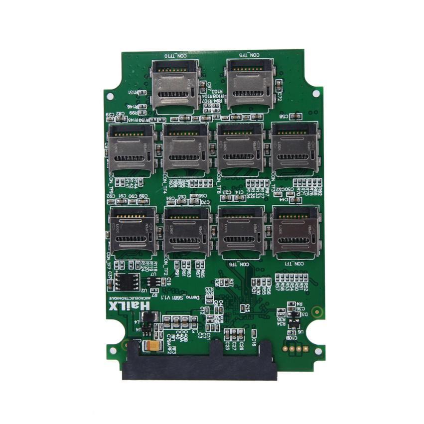 Hot Selling 10 x Micro SD TF Memory Card to SATA SSD Adapter + RAID Quad 2.5 SATA Converter Sep21 micro sd tf memory card kit male to sd female extension soft flat fpc cable extender 10cm