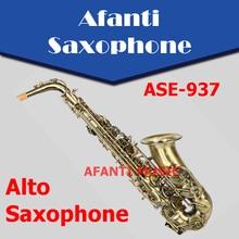 Afanti Music Eb tone / Brass body / Bronze Alto Saxophone (ASE-937)