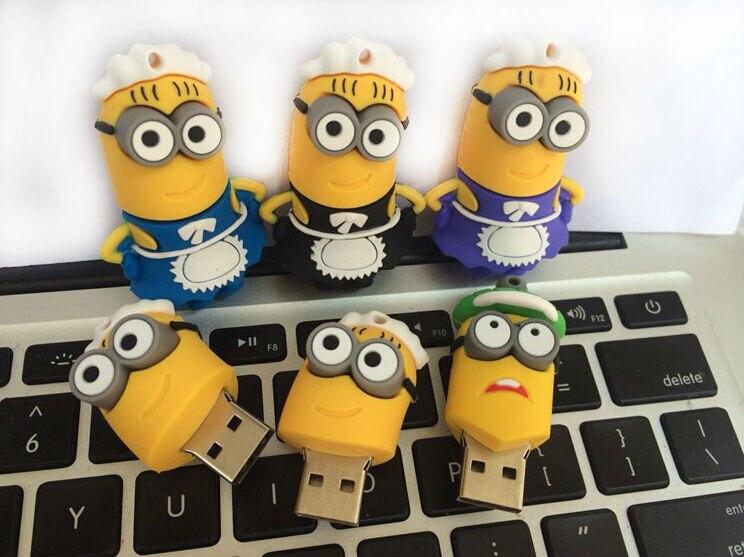 Cartoon Minions Family USB 2.0 USB flash drive pen drive Memory Stick Pendrive Gift 8gb 16gb 32gb 64gb