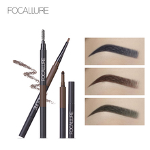 FOCALLURE Eyebrow Pencil 3 in 1 Auto Waterproof Eye Makeup Brow Shades Brush Powder Tint No Tone Long Lasting